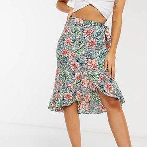 Outrageous Fortune Wrap Detail Midi Skirt
